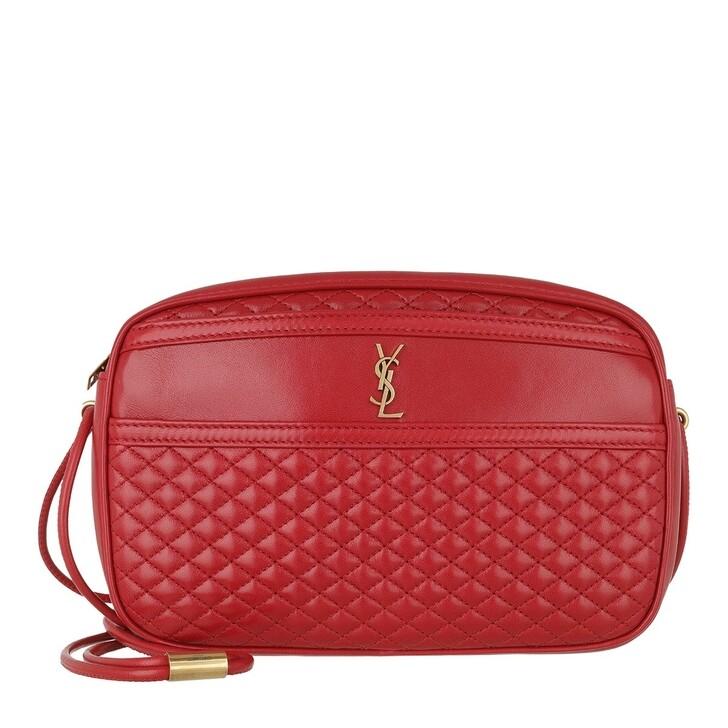 Handtasche, Saint Laurent, Victoire Camera Bag Quilted Lambskin Rouge