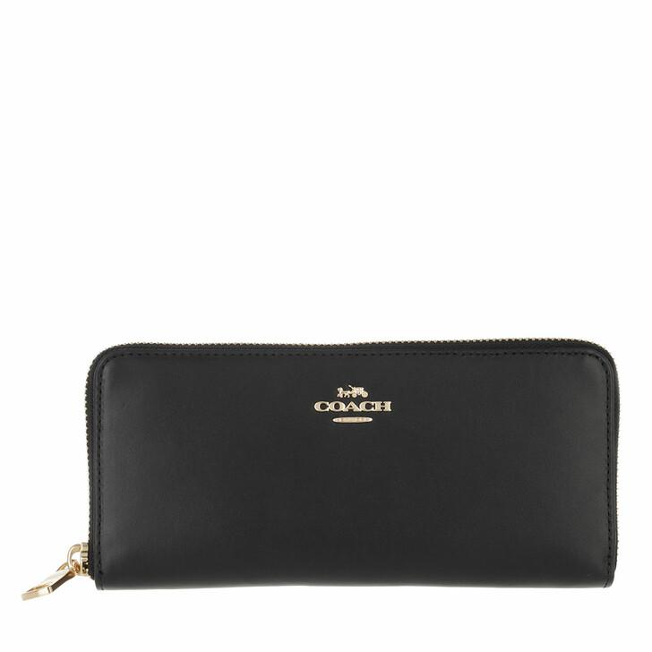 wallets, Coach, Box Program Smooth Leather Slim Accordion Zip Gd/Black