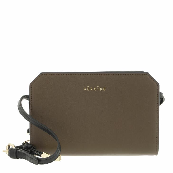 bags, Maison Hēroïne, Pheline Phone Dark Khaki