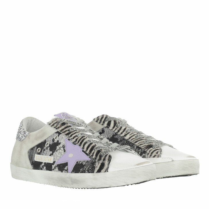 Schuh, Golden Goose, Low Top Superstar Sneakers Animal Print