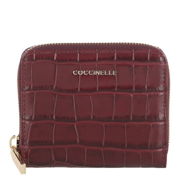 wallets, Coccinelle, Wallet Soft Croco Leather Marsala