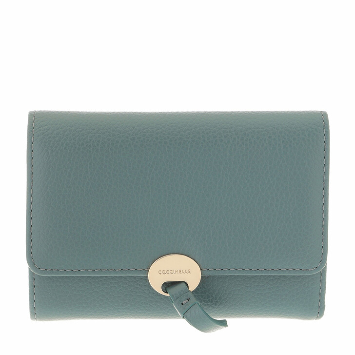 wallets, Coccinelle, Dot Wallet Leather Shark Grey