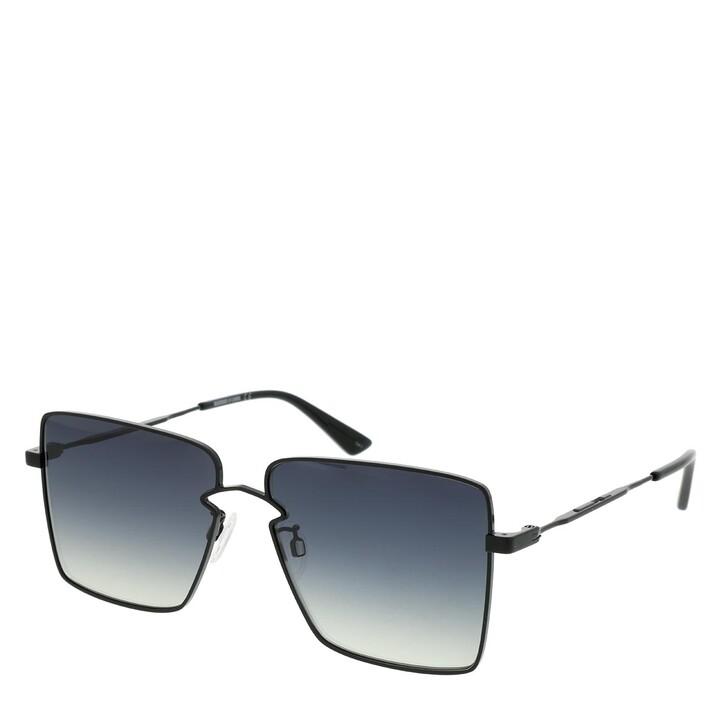 Sonnenbrille, McQ, MQ0268S-001 59 Sunglasses Black-Black-Grey