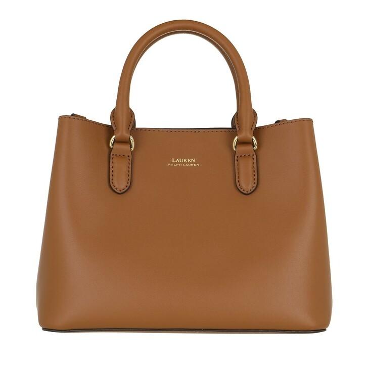 Handtasche, Lauren Ralph Lauren, Marcy Ii Satchel Mini Lauren Tan/Monarch Orange