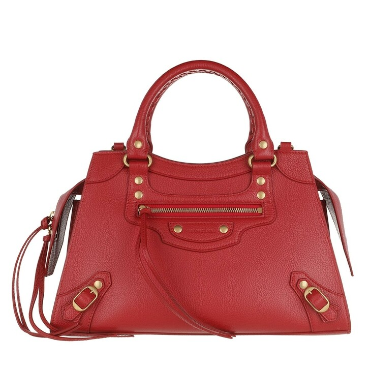 Handtasche, Balenciaga, Neo Classic Small City Bag Grained Calfskin Medium Red