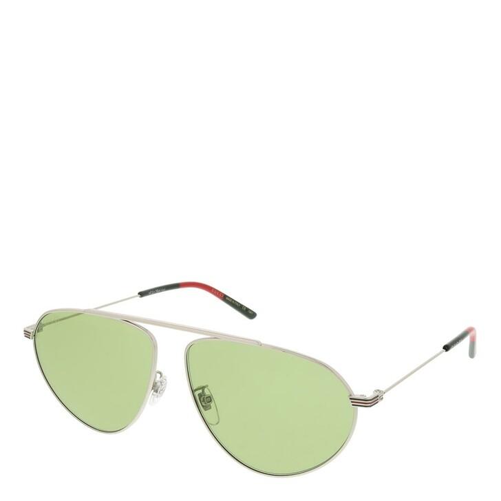 sunglasses, Gucci, GG1051S-003 61 Sunglass Man Metal Silver-Silver-Green