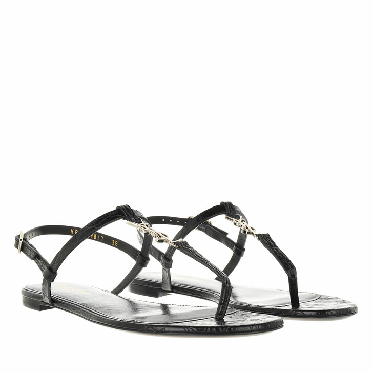 shoes, Saint Laurent, Cassandra Sandals Black