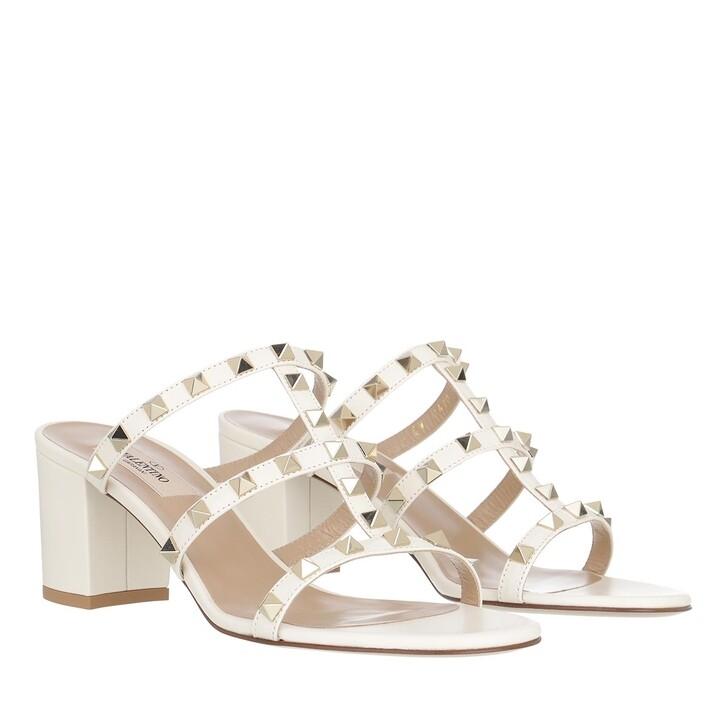 Schuh, Valentino Garavani, Rockstud Sandals Light Ivory