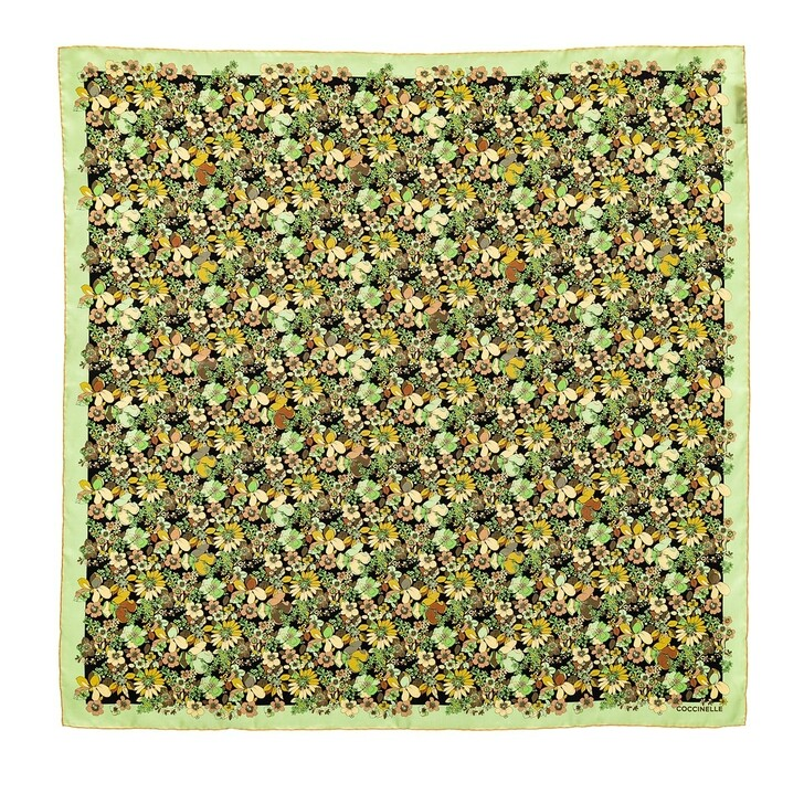 Schal, Coccinelle, Flower Field Foulard Scarve Multicolour Tea Green
