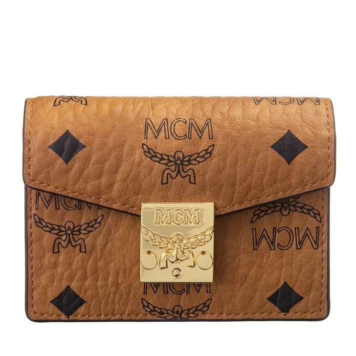Geldbörse, MCM, Patricia Visetos W-C8-3 Original Card Mini Cognac
