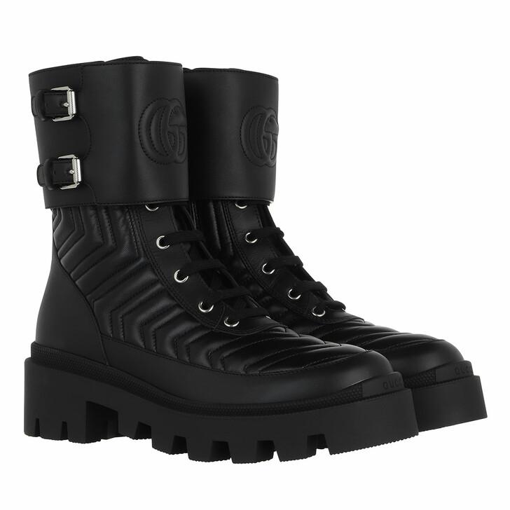 shoes, Gucci, Frances Boots Leather Black