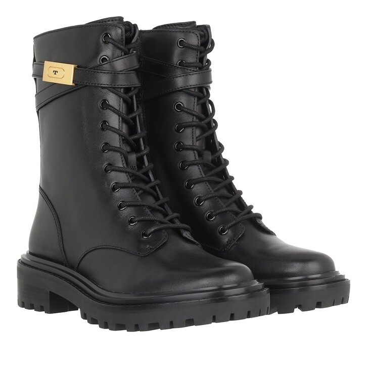 shoes, Tory Burch, T Hardware Combat Boot Perfect Black