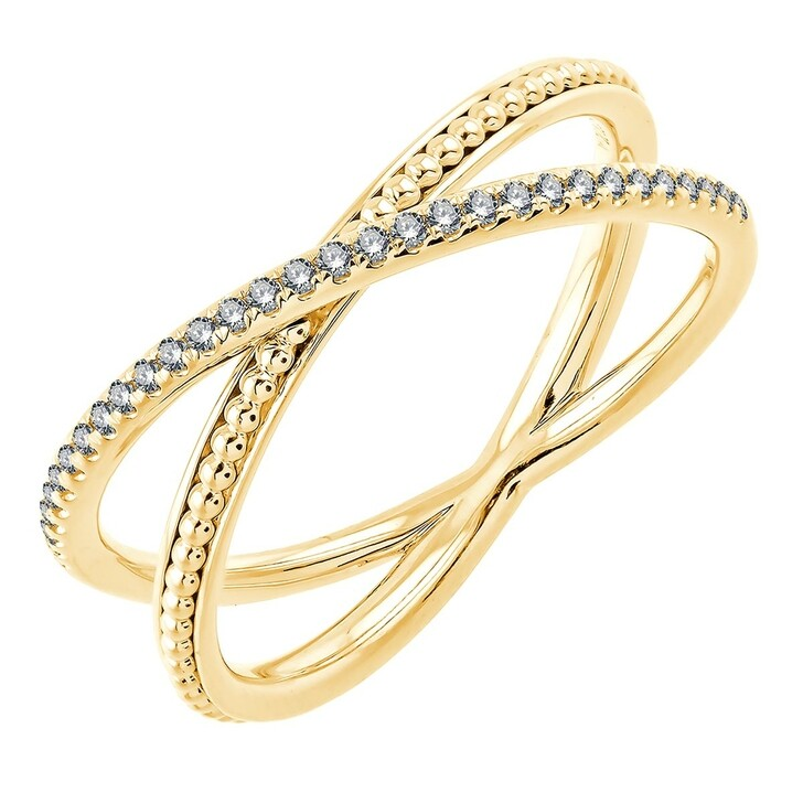 rings, Pukka Berlin, Marika XO Diamond Ring Yellow Gold