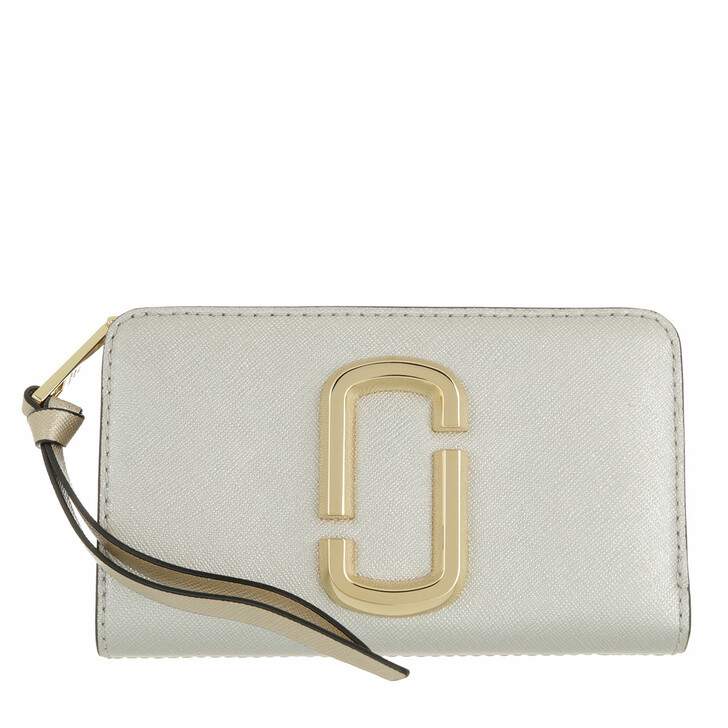 wallets, Marc Jacobs, The Snapshot Compact Wallet Leather Platinum Multi