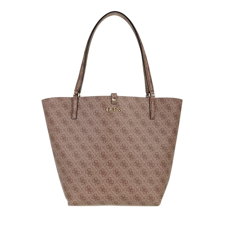 Handtasche, Guess, Alby Toggle Tote Latte Logo