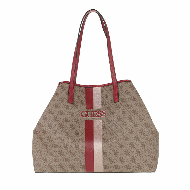 bags, Guess, Vikky Large Tote Latte/Red