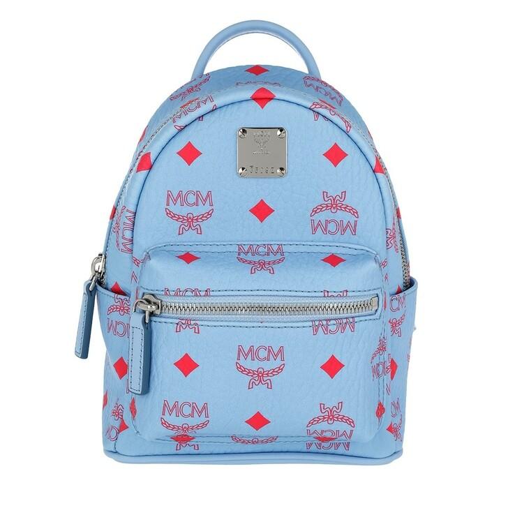 Reisetasche, MCM, Stark Visetos Backpack Extra Mini Blue Bell