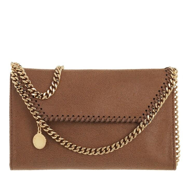 bags, Stella McCartney, Falabella Mini Crossbody Bag Deer/Gold