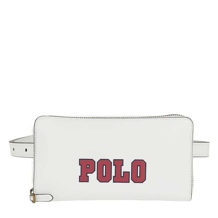 Handtasche, Polo Ralph Lauren, Varsity Nappa Belt Bag Small White