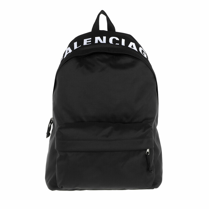Reisetasche, Balenciaga, Wheel Backpack Black