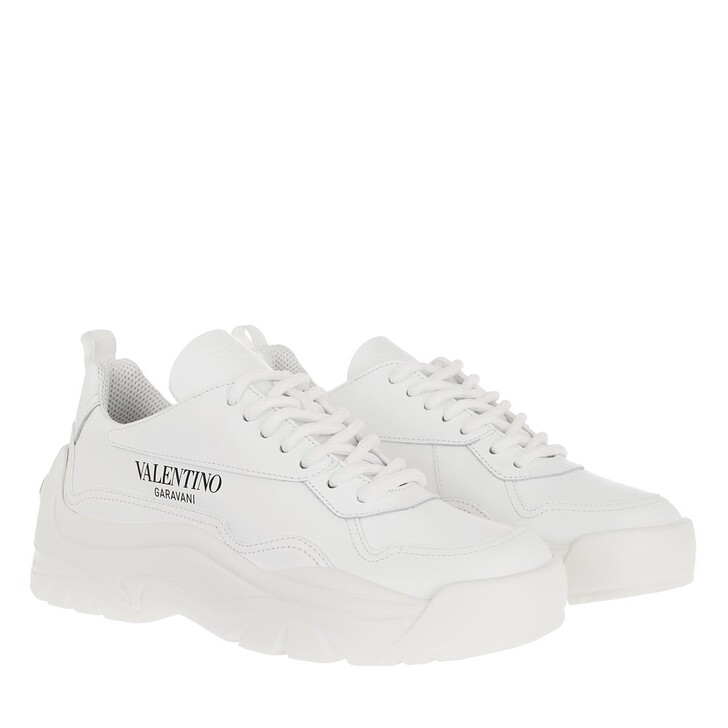 Schuh, Valentino, Gumboy Sneakers Leather White
