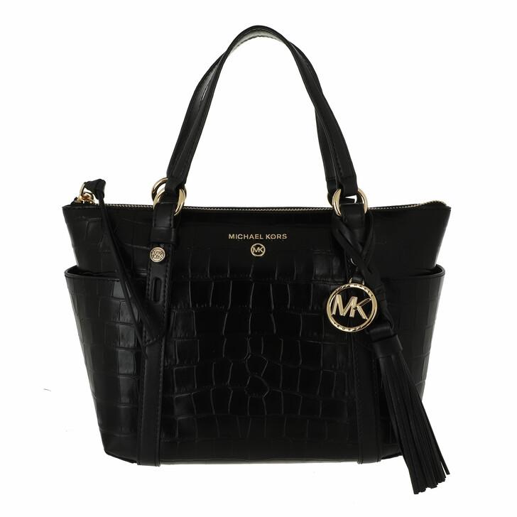 bags, MICHAEL Michael Kors, Small Conv Tz Tote Black