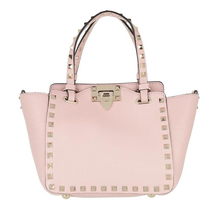 bags, Valentino Garavani, Mini Rockstud Tote Bag Rose Quartz