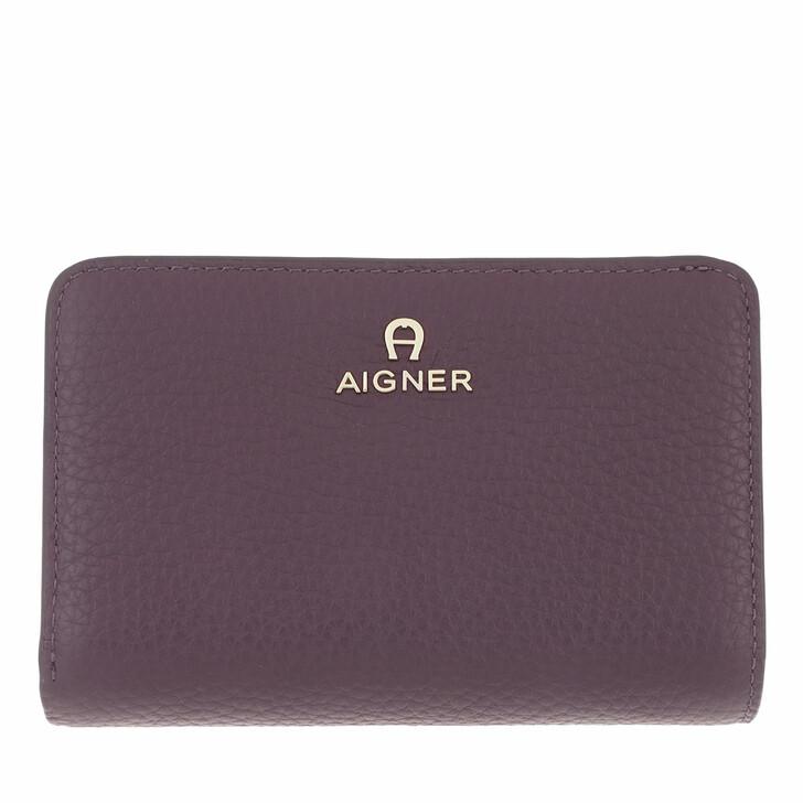 wallets, AIGNER, Ivy Wallet Plum