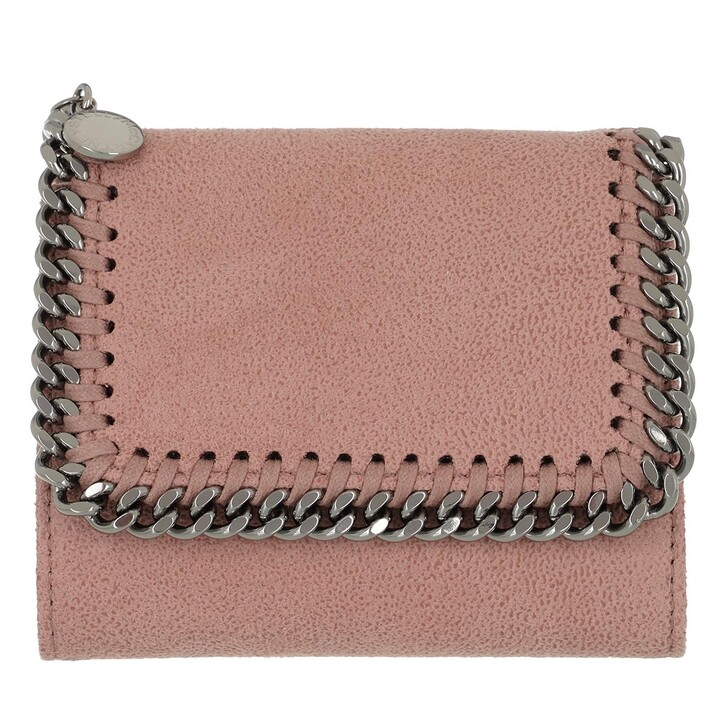 Geldbörse, Stella McCartney, Falabella Small Flap Wallet Shaggy Deer Pink