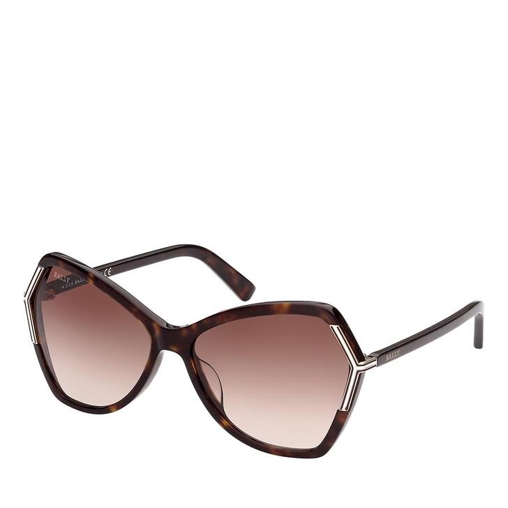 Sonnenbrille, Bally, BY0036-H Dark Havana/Gradient Brown