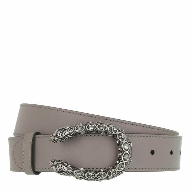 Gürtel, Gucci, Crystal Dionysus Buckle Belt Leather Dark Grey