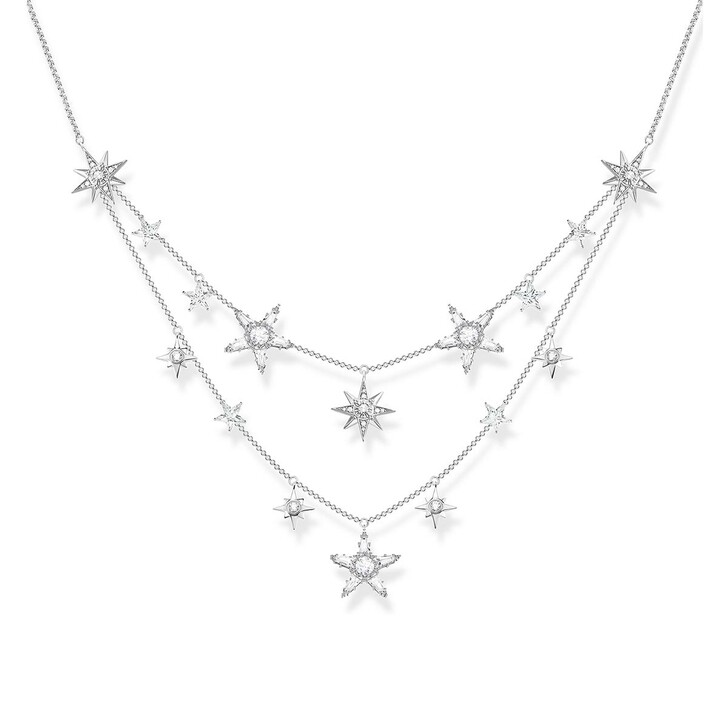 Kette, Thomas Sabo, Necklace Stars Silver