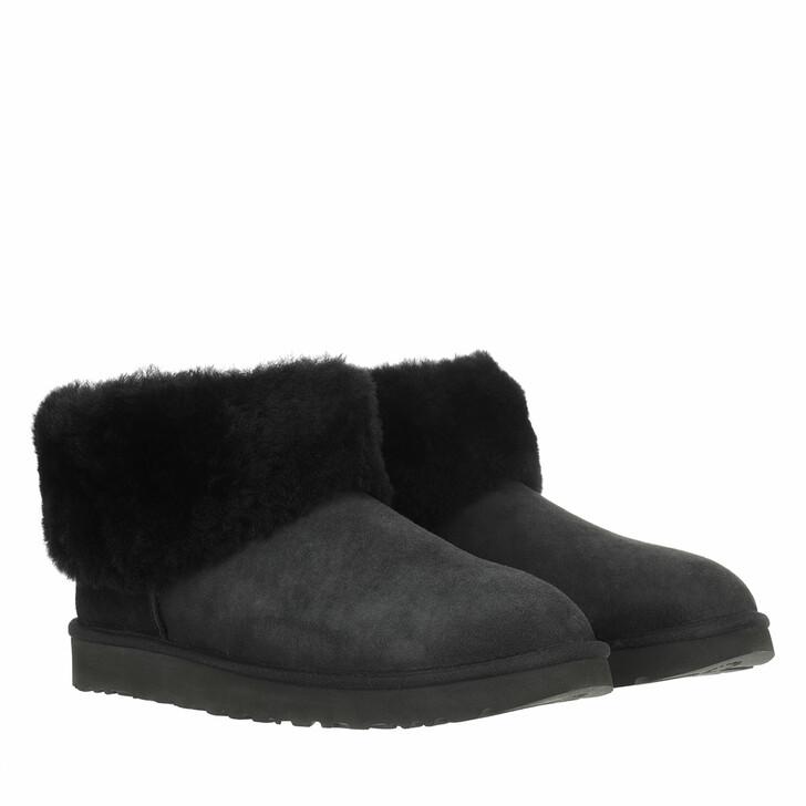 Schuh, UGG, Classic Mini Fluff BLACK