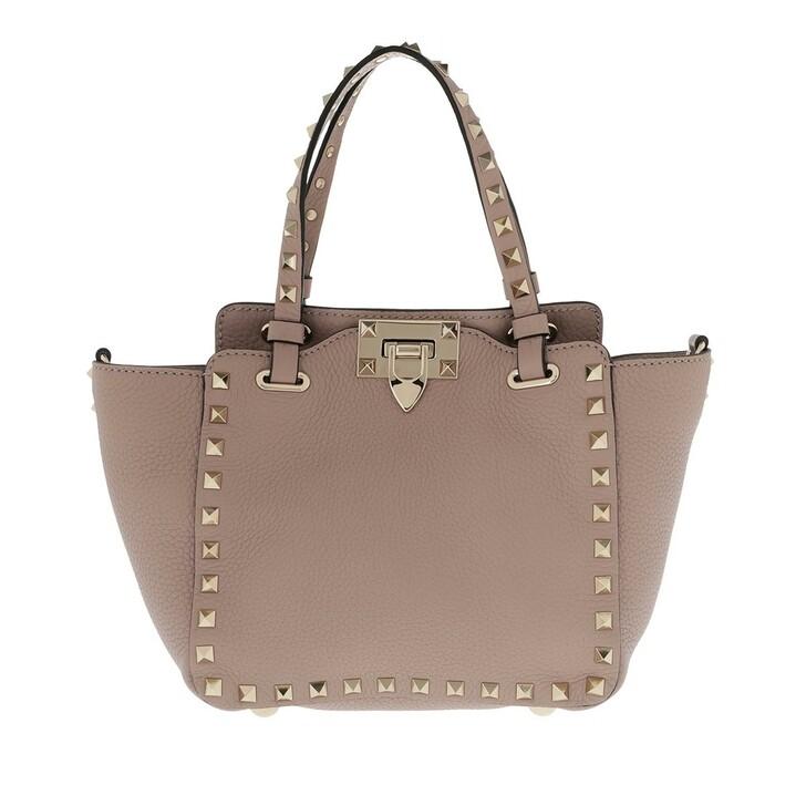 Handtasche, Valentino, Mini Rockstud Tote Bag Powder