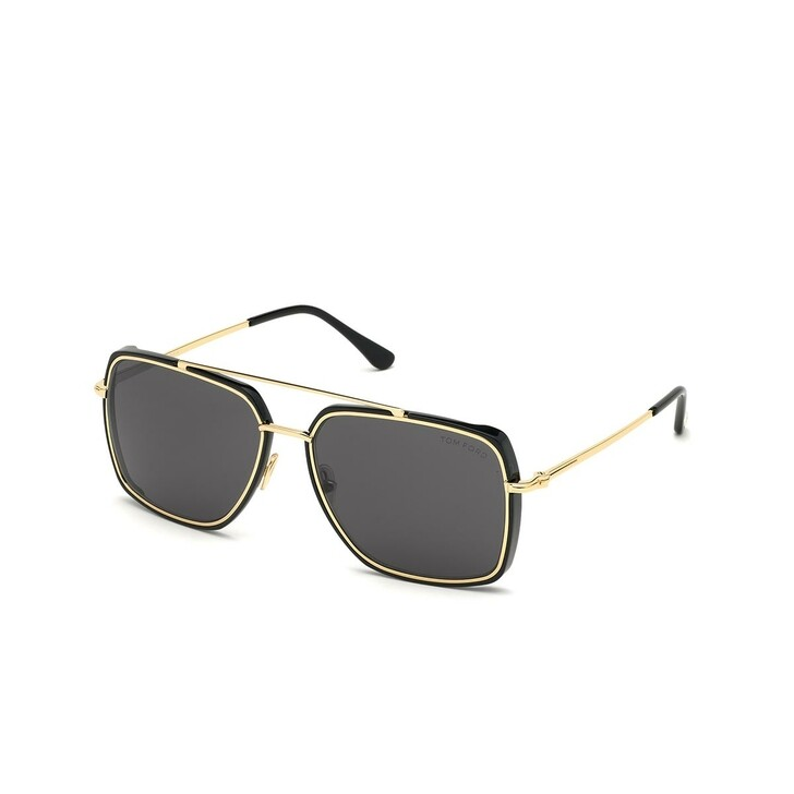 Sonnenbrille, Tom Ford, Men Metal Sunglasses FT0750 Black/Grey