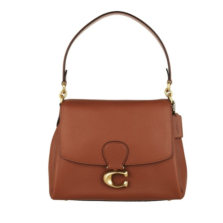 bags, Coach, Soft Pebble Leather May Shoulder Bag 1941 Saddle
