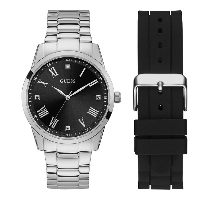 watches, Guess, MENS BOXED SETS Silver