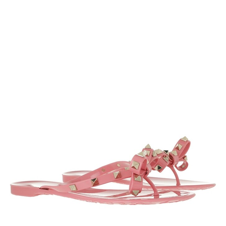 Schuh, Valentino Garavani, Rockstud Bow Flats Sweet Pink