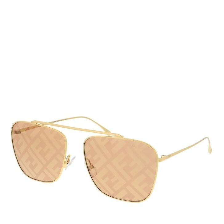 sunglasses, Fendi, FF 0406/S Sunglasses Gold