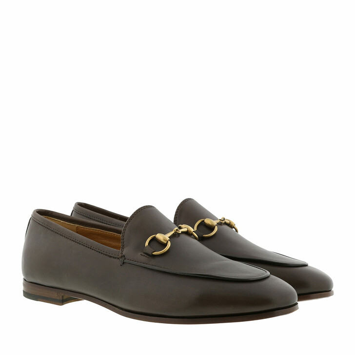 Schuh, Gucci, Jordaan Loafer Leather Dark Brown