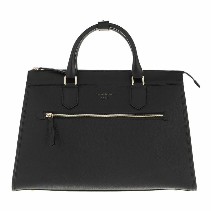 bags, Tiger of Sweden, Small Leather Handbag Black