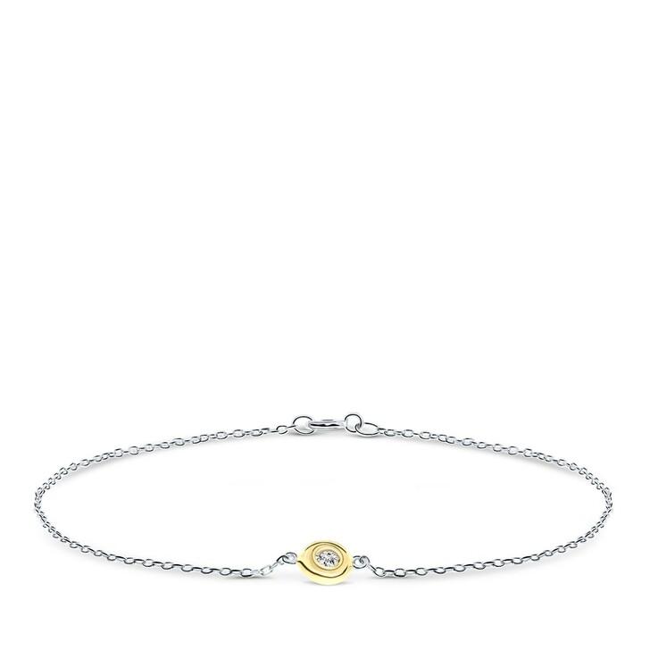 bracelets, DIAMADA, 14KT Bi Colour Diamond Bracelet Yellow Gold