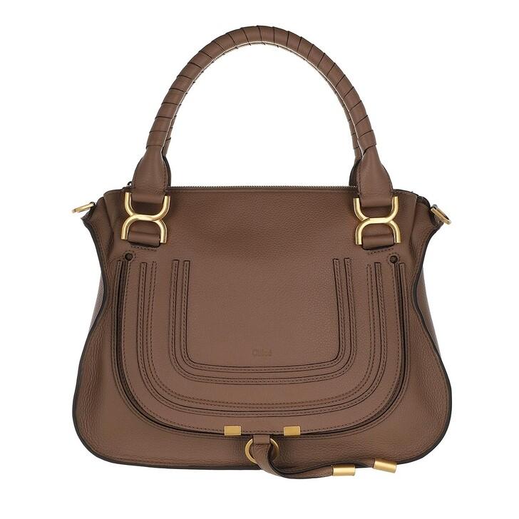 bags, Chloé, Marcie Handbag Grained Calfskin Leather Desert Taupe