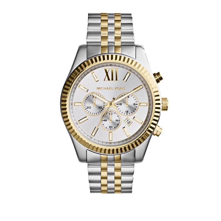 Uhr, Michael Kors, MK8344 Lexington Watch Silver and Gold-Tone