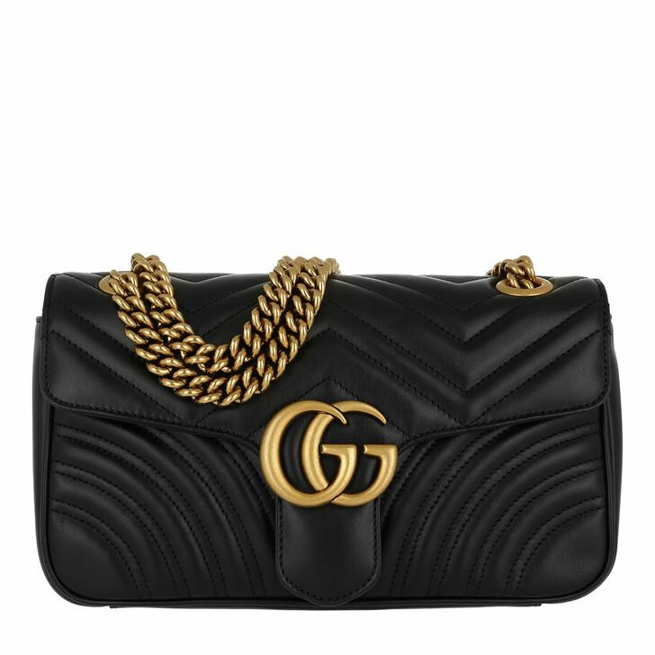 bags, Gucci, GG Marmont Matelassé Shoulder Bag Nero