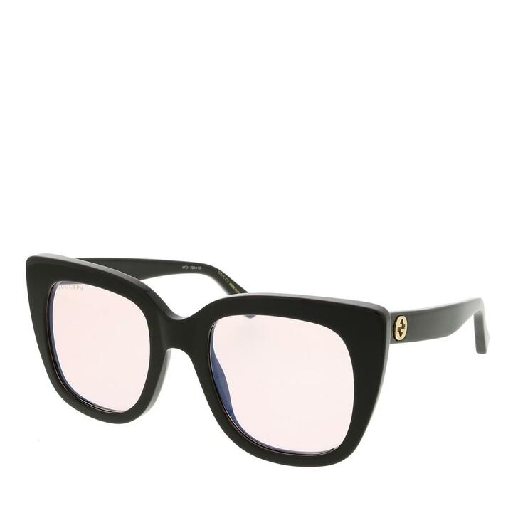 sunglasses, Gucci, GG0163S-009 51 Blue & Beyond Woman Sunglasses Black-Pink