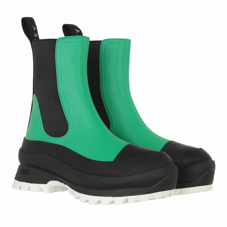 shoes, Stella McCartney, Trace Chelsea Boots  Green/Black