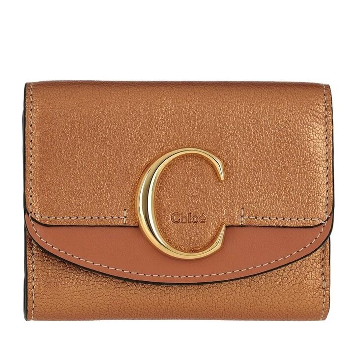 Geldbörse, Chloé, Compact Wallet Rose Gold