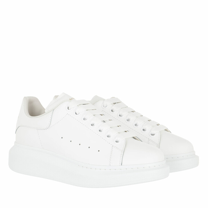 shoes, Alexander McQueen, Oversized Low Top Sneakers White/White