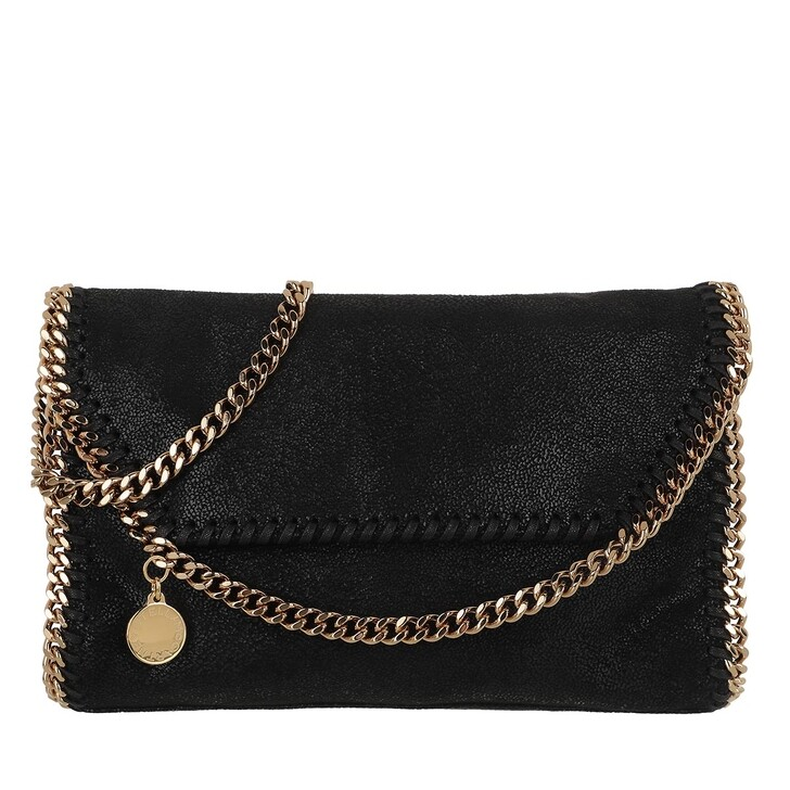 Handtasche, Stella McCartney, Falabella Shaggy Deer Mini Shoulder Black/Gold